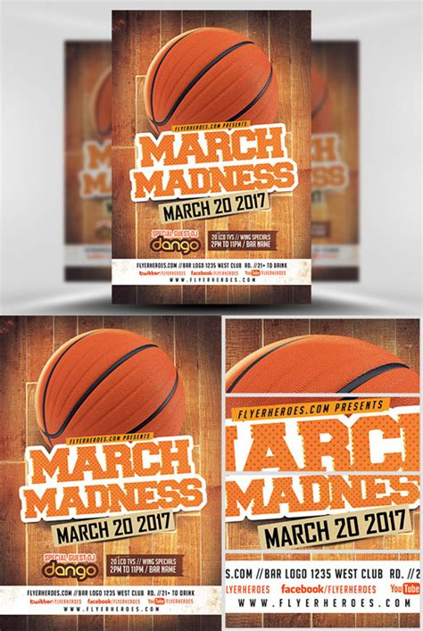 Graphics Flyer Template March Madness Basketball Scripts Nulled Scriptznull Nl Madness Flyer Template