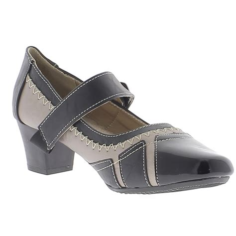 comfortable wide heels black and copper woman shoes comfortable small heels of 4
