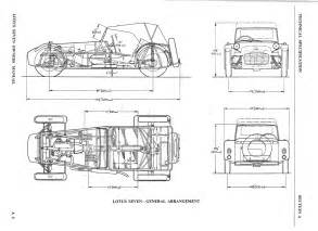 Lotus 7 Frame Plans Drawings Mechanical Daydream