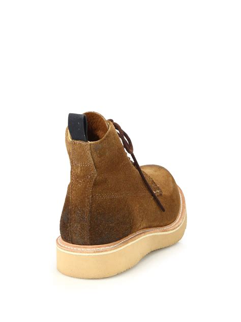 rag bone fleet suede lace up boots in brown for lyst