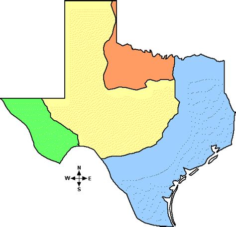 Four Tx Maps Map 4 Regions