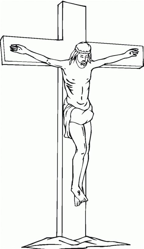 coloring page jesus cross free printable cross coloring pages for kids