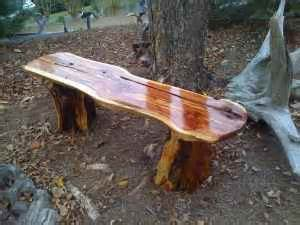 Plans For A Picnic Table Bench by Wooden Utility Bench Natural Cedar Wood Natural Wood Bench