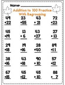 Addition with regrouping worksheets 1st grade math addition worksheets