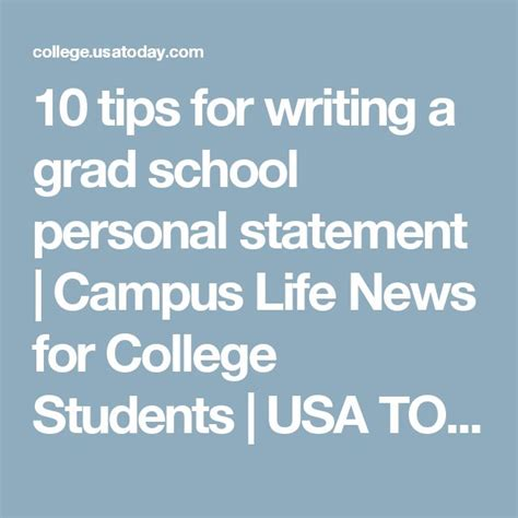 Graduate School Essay Tips by 10 Tips For Writing A Grad School Personal Statement College Students And School
