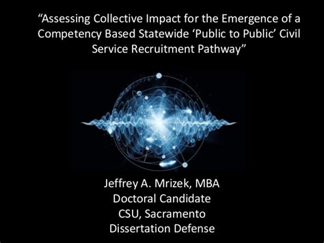 Csu Mba Pathway by Assessing Collective Impact For The Emergence Of