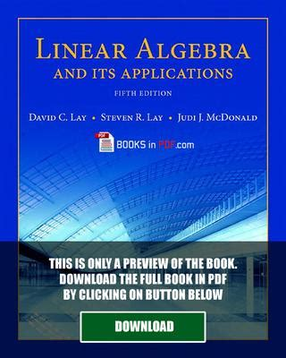 Linear Algebra And Its Applications 5e Lay linear algebra and its applications 5th edition pdf by robert m crump issuu