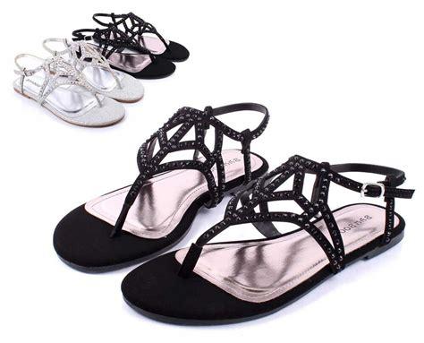black bamboo fashion rhinestone strappy womens sandals dress shoes size 8 ebay