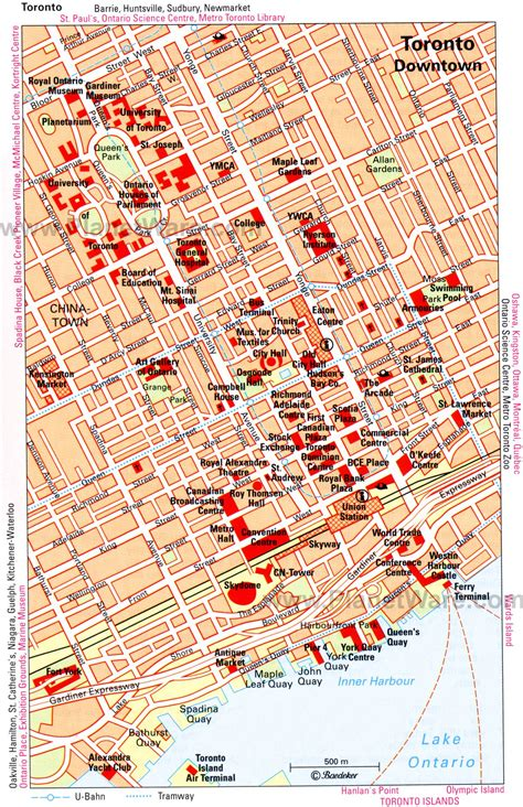 printable map toronto downtown 15 top rated tourist attractions in toronto planetware