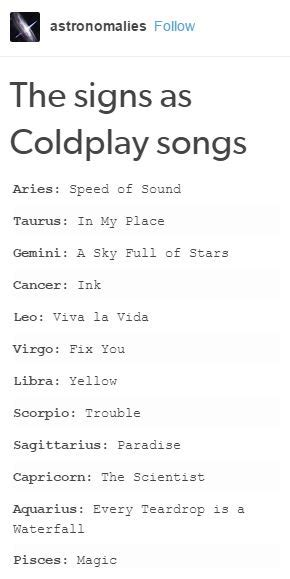 coldplay zodiac the signs as coldplay songs ησνα zodiac i m libra