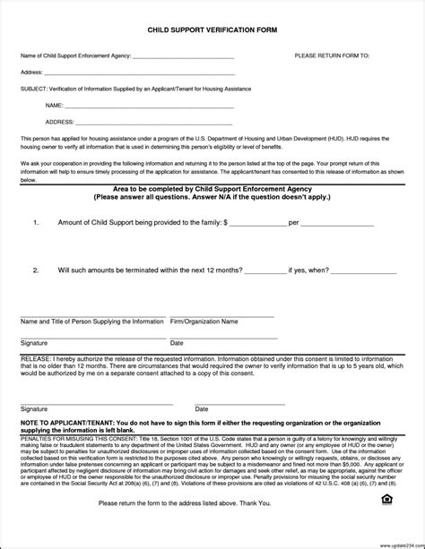 template for child support agreement voluntary child support agreement template template