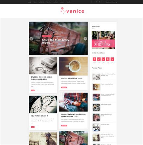 magazine layout blog 25 free responsive blogger templates 2016 free download