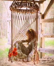 macrame hanging swing chair bohemian hippie lifestyle