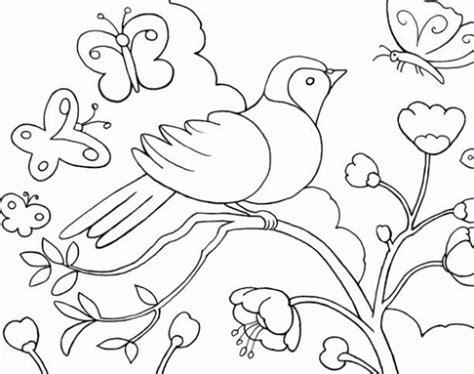 imagenes de paisajes en dibujo paisajes de primavera dibujos para pintar colorear