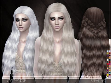 sims 3 hair braid tsr the sims resource over stealthic cadence female hair