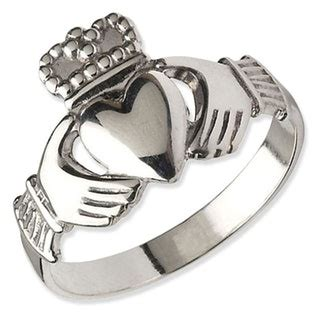 platinum claddagh ring for