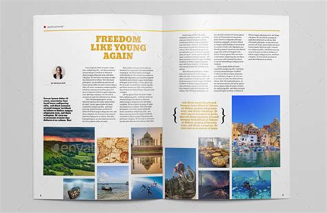 magazine layout maker free download 10 creative travel magazine templates for tourism