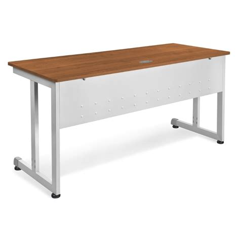 60 x 24 desk ofm modular 24 quot x 60 quot computer desk in cherry 55218 chy