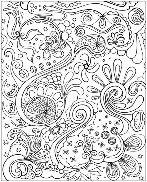 free abstract coloring page to print detailed