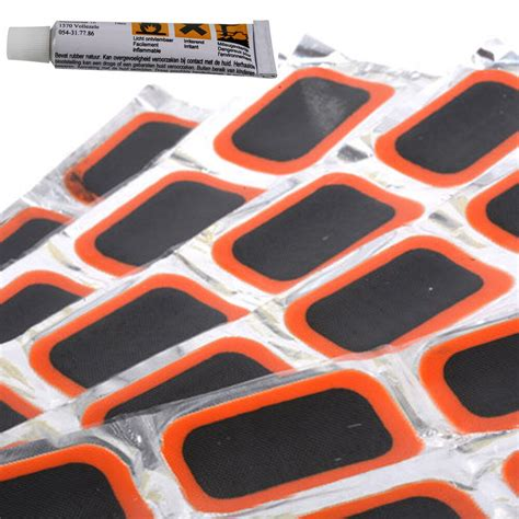 pcs rubber puncture patches bicycle bike tire tyre tube repair patch kit glue ebay