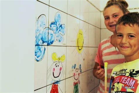 Disegna Il Tuo Bagno by Coloriamo Le Piastrelle Con Esperienzacreativa I Testi