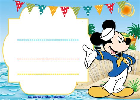mickey mouse 1st birthday invitations ideas mickey mouse
