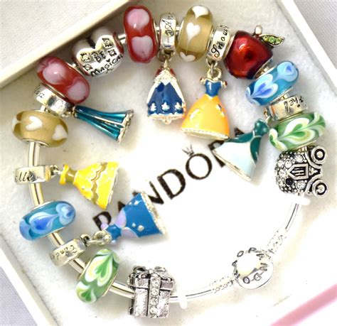 disney princess charms pandora pandora 925 bangle charm bracelet and european charms
