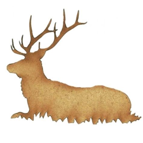 wood pattern enlarger stag deer wood shape style 1 for altered art and craft