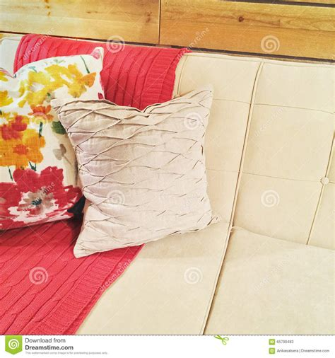 pink throws for sofa sofa with pink throw and cushions stock image image