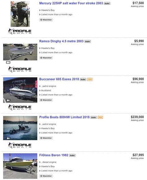 boats for sale trade me nz trademe profile boats