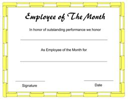 manager of the month certificate template employee appreciation award certificate