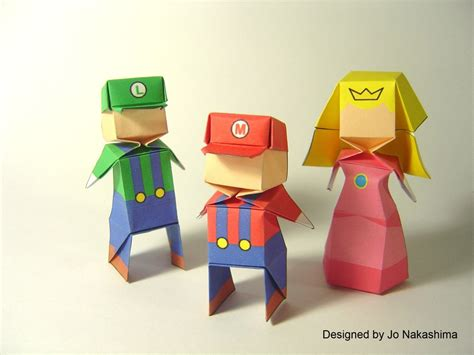 How To Make Paper Mario - videogame origami part 2 nintendo and square enix