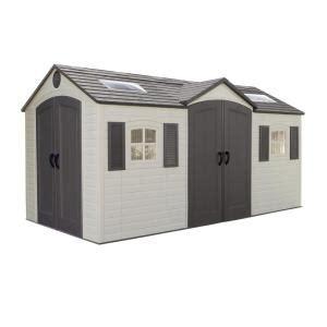 lifetime 15 ft x 8 ft door storage shed 60079
