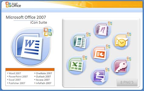 microsoft office 07 icon suite by jokerjla on deviantart