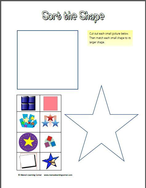 printable shapes for sorting 1000 images about preschool shapes on pinterest the