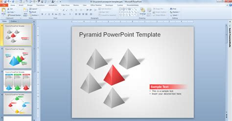 Free 3d Pyramid Template For Powerpoint Presentations Powerpoint Templates 3d Free