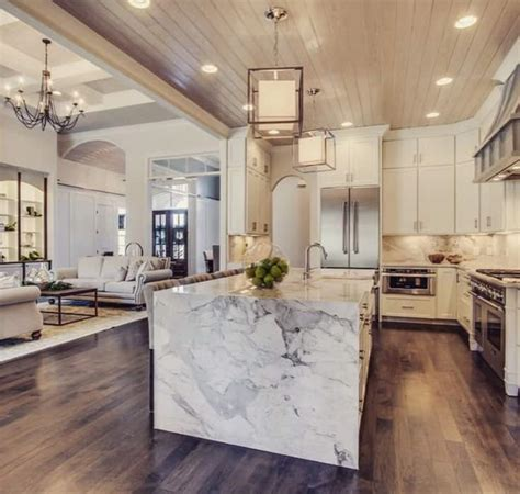 stone kitchen design 50 exles of marble kitchen speak about high end tastes