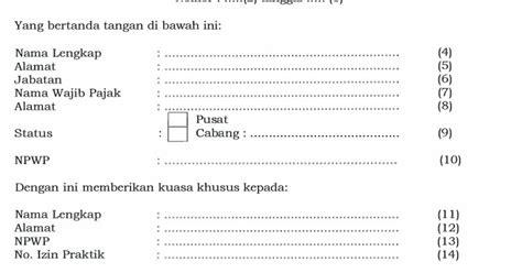 Contoh Surat Kuasa Pengurusan Pajak by Ketentuan Wakil Dan Syarat Seorang Kuasa Wajib Pajak