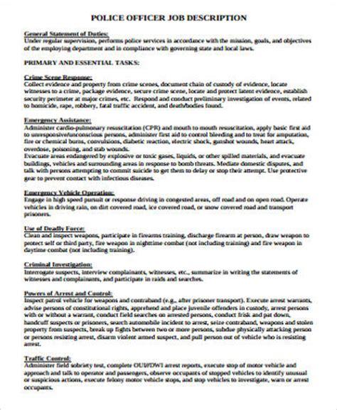 sle police officer resume 6 exles in word pdf