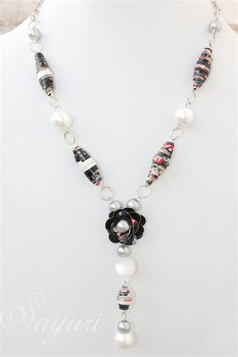 paper bead necklace paper bead necklace diy jewels of sayuri