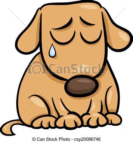 imagenes de tristeza caricaturas eps vector de triste perro caricatura ilustraci 243 n