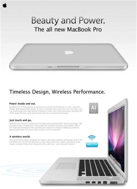 Mac Ad In by Leaked Macbook Pro Ad Is Just A Mockup Mac Rumors