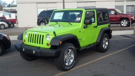 2012 jeep wrangler colors gecko color jeep wrangler sport jk spotted at jeep dealer