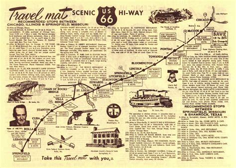map of route 66 route 66 songbook
