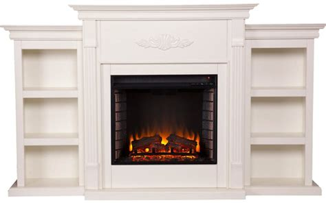 tennyson electric fireplace w bookcases best electric