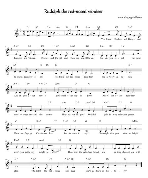 printable lyrics to rudolph the red nosed reindeer free christmas carols gt rudolph the red nosed reindeer