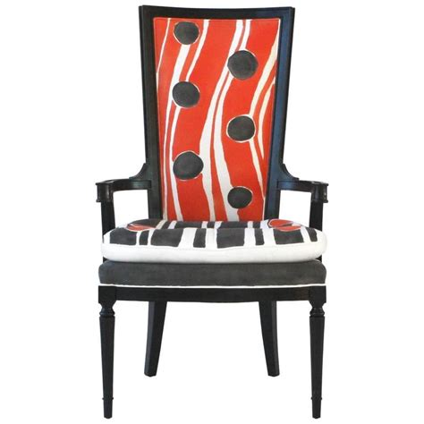 hand painted dining room furniture hand painted high back arm or dining chair for sale at 1stdibs