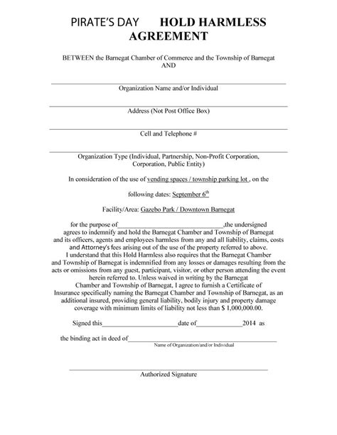 hold harmless waiver template 40 hold harmless agreement templates free template lab