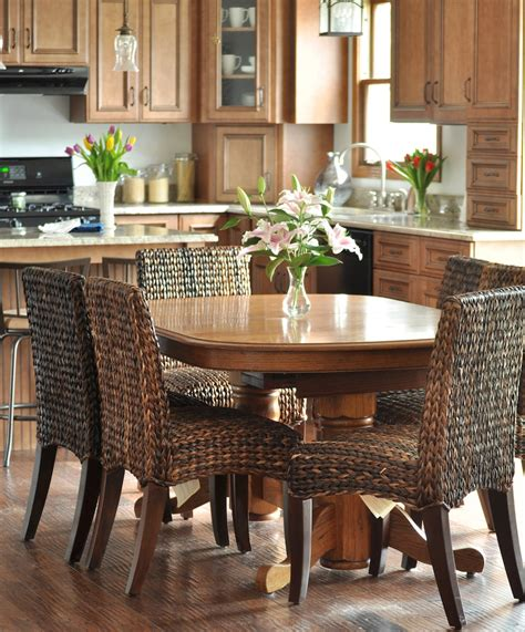 pottery barn table and chairs seagrass dining chairs