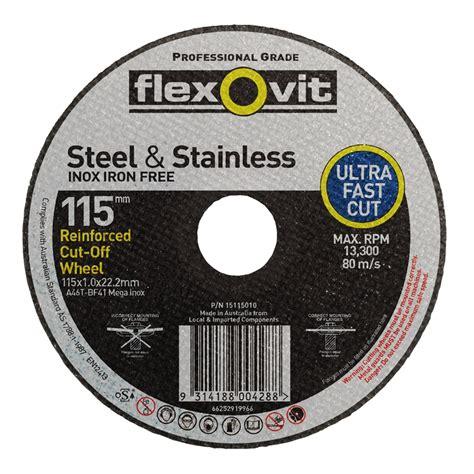 Cutting Whell flexovit 115 x 1 0 x 22 2mm reinforced metal cutting wheel